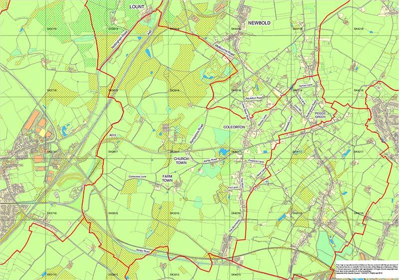 Coleorton Parish Boundary