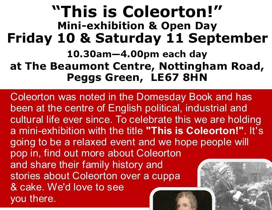 """This is Coleorton"" Heritage Event"