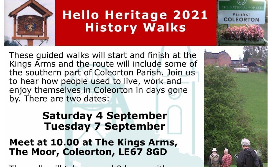 Coleorton History Walks